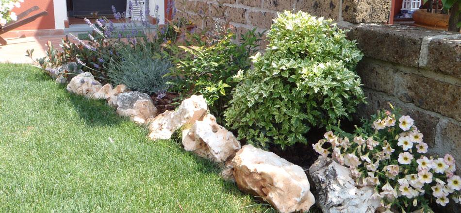 Aiuole decorative baldecchi giardini for Aiuole con sassi colorati