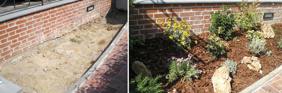 Aiuole decorative baldecchi giardini - Giardini decorati con sassi ...