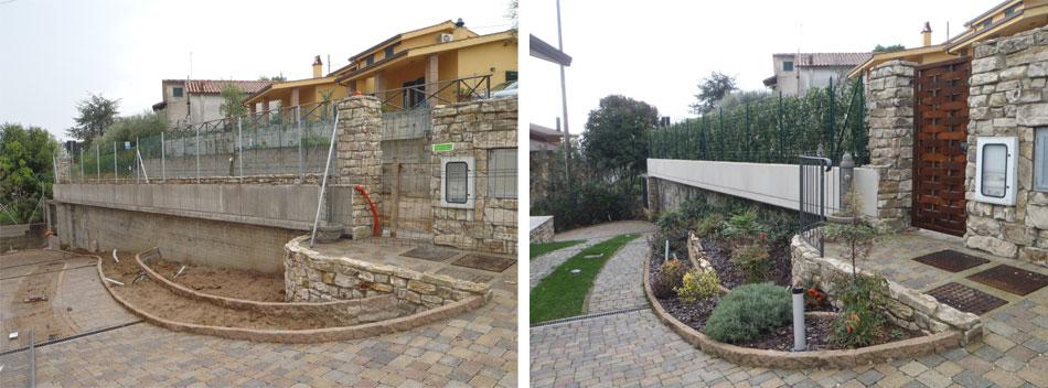 Aiuole decorative baldecchi giardini for Aiuole con sassi bianchi